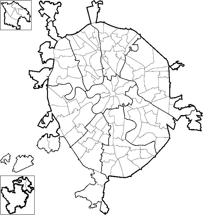 часто карта москвы с границами округов на картинке подготовке этого