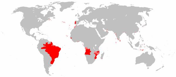Можно только диву даваться насколько изменился мир всего за 150 - 170 лет. All_areas_of_the_world_that_were_once_part_of_the_Portuguese_Empire