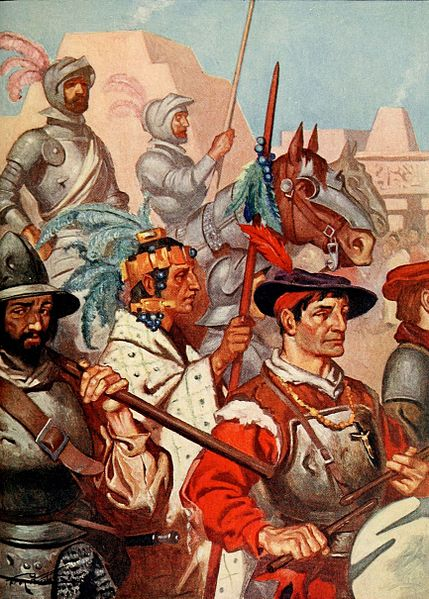 ROHM_D201_The_conquistadors_enter_tenochtitlan_to_the_sounds_of_martial_music