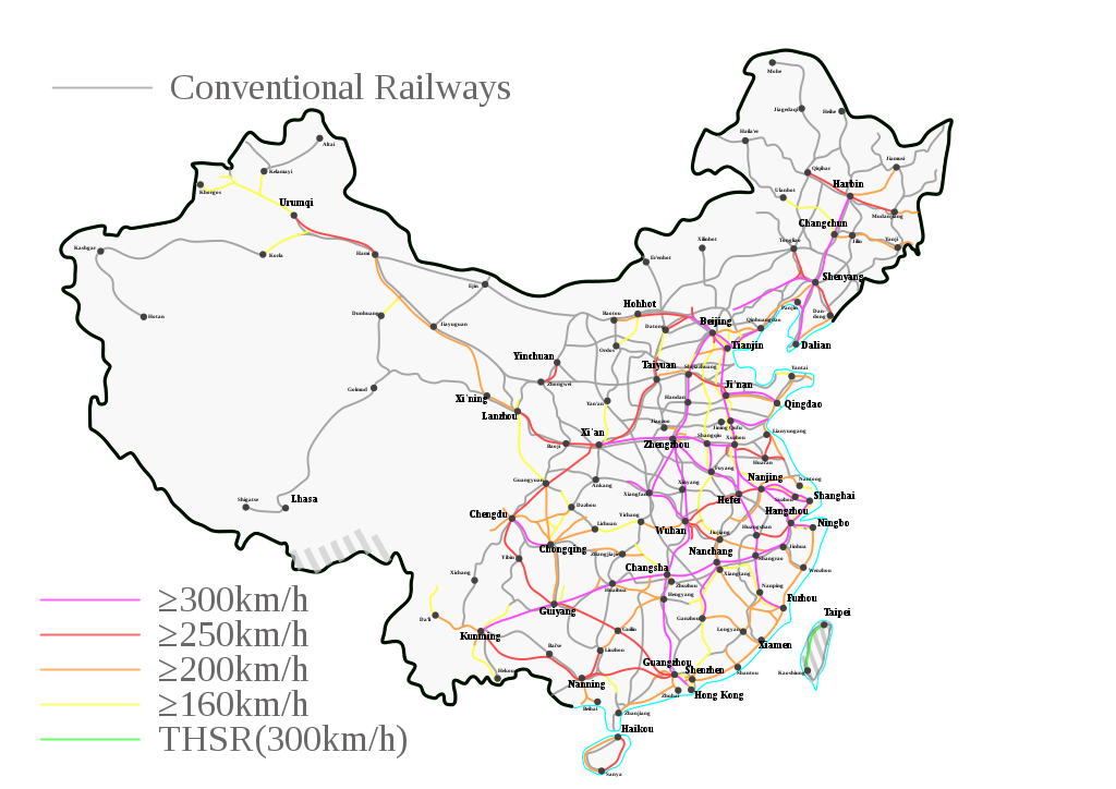 Rail_map_of_China_(high_speed_highlighted)_WP.svg