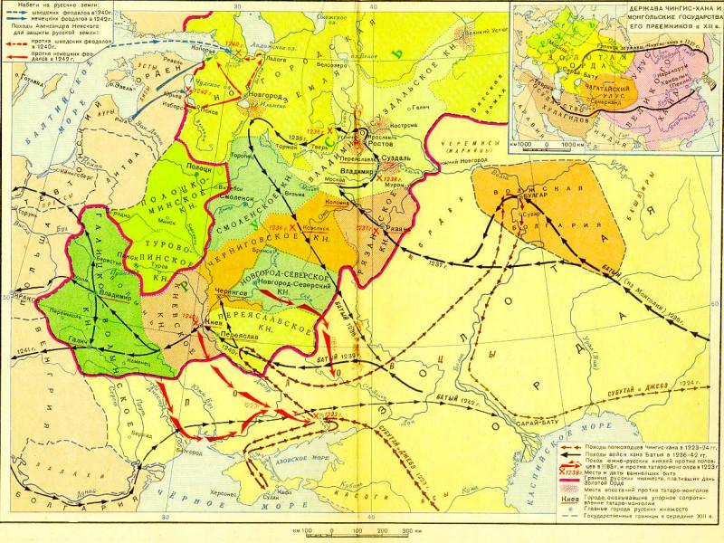 Монгольский удар - не 100 000 воинов, а 2 - 4 тысячи, что б нам стыднее было tatars