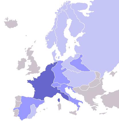 Наполеон и Монгольская империя - что общего? Или почему Наполеон типичный Europe_map_Napoleon_Blocus