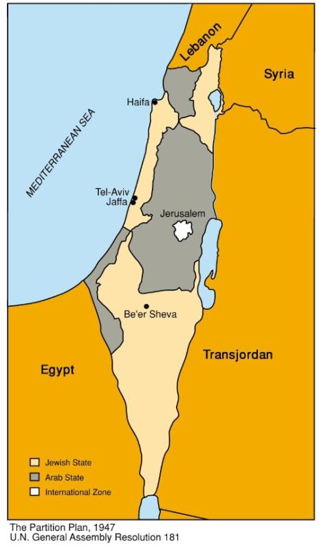 Злая ложь о евреях - карта ужимания бедных палестинцев 4052666_original
