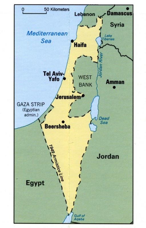 Злая ложь о евреях - карта ужимания бедных палестинцев 4053155_original