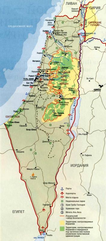 Злая ложь о евреях - карта ужимания бедных палестинцев 4055726_original
