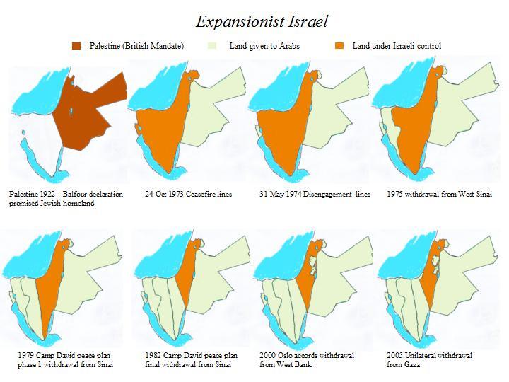 Злая ложь о евреях - карта ужимания бедных палестинцев 4055896_original