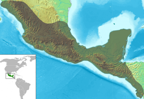 mesoamc3a9rica_relief_map_with_continental_scale