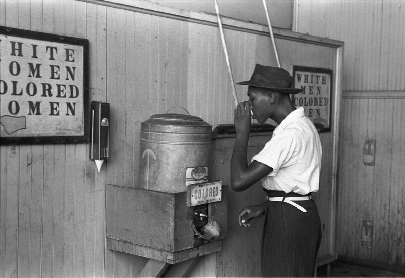 _Colored__drinking_fountain_from_mid-20th_century_with_african-american_drinking