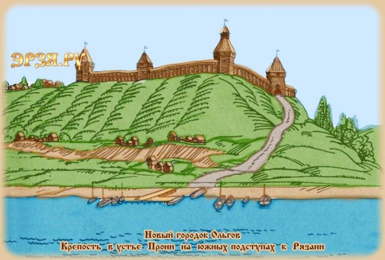 Olgovo_Gorodishe_Istoricheskaya_Rekonstruktsiya