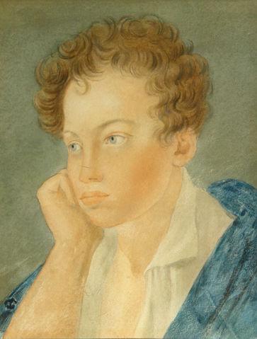 12.С.Г.Чириков. Пушкин в юности (акварель), ок.1815г..jpg