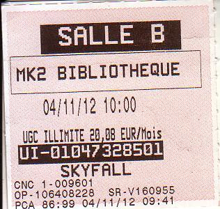Billet Skyfall