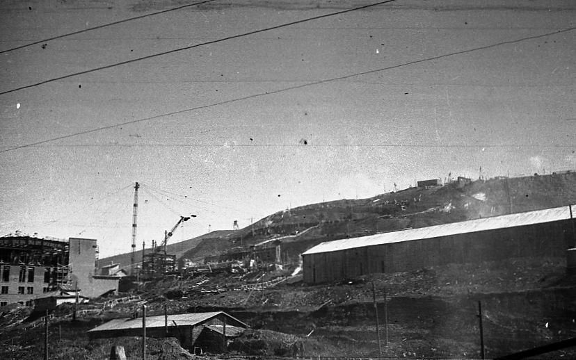 Вид на БОФ со стороны шоссе, июль 1948