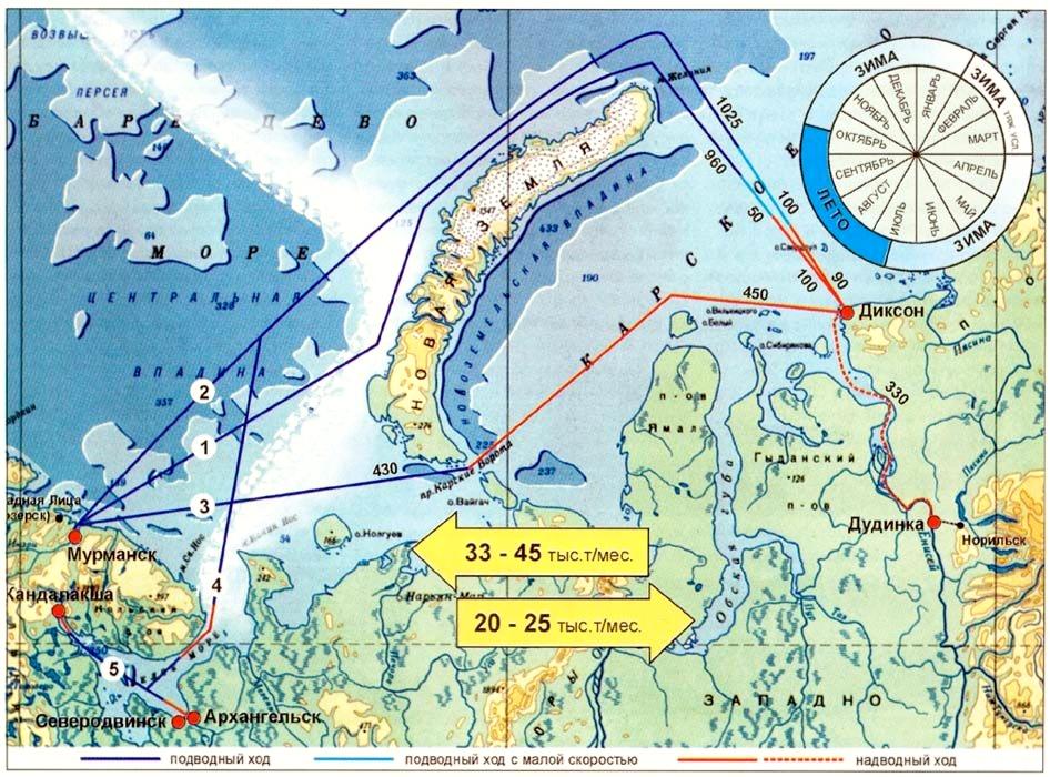 базы атомных подводных лодок россии на карте