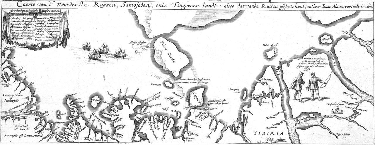 1612 монография Герритса о Земле Самоедов карта Исаака Массы.jpeg