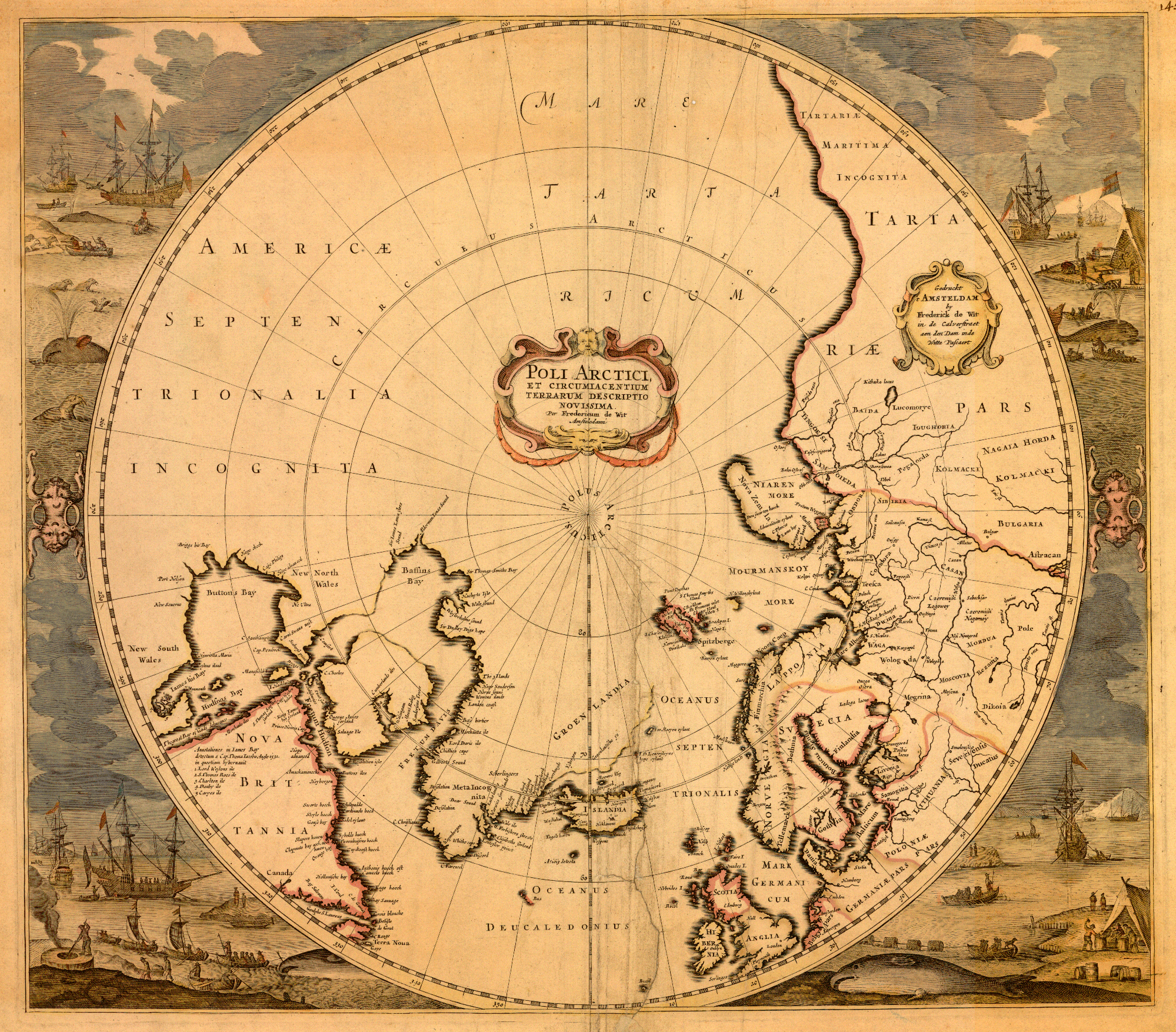 1676 Frederik de Wit Wit's version of a 1636 map by Henricus Hondius.jpg
