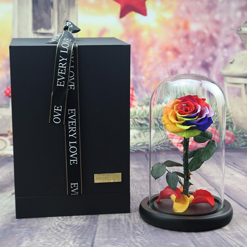 красавица и чудовище роза цветок под колбой вечная роза роза которая не вянет купить в россии