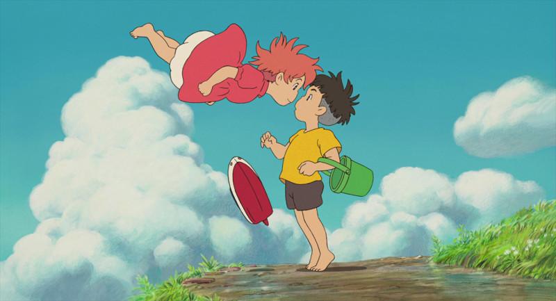 студия Дзибли (Studio Ghibli Rodrigo Alexandrino Рыбка понье на утесе аниме анимационый фильм мультфильм