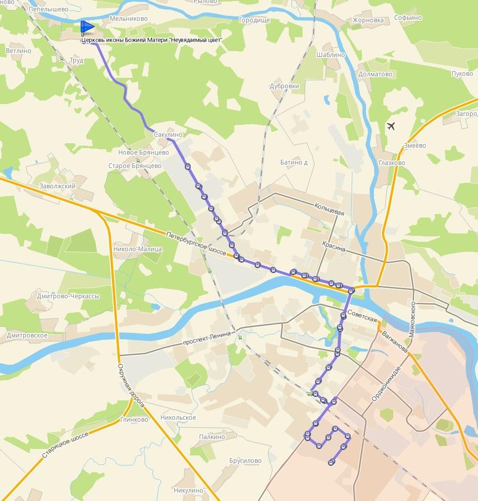 Схема проезда 223
