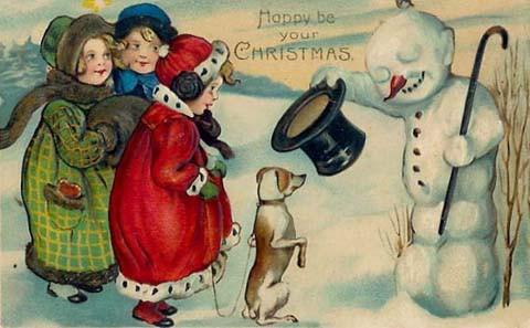 Vintage Christmas Card028