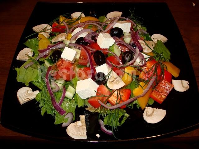 343Как украсить салат греческий