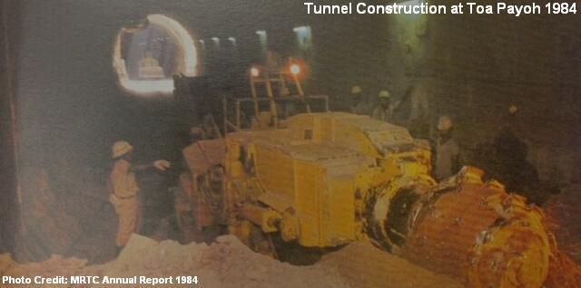 Строительство тоннеля на станции Тоа Пайо (Toa Payoh)
