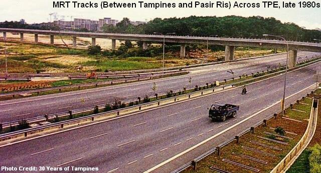 Пути MRT над непрерывной магистралью TPE, конец 1980-х