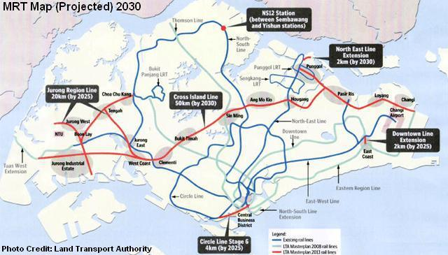 План развития Сингапурского Метро до 2030 года