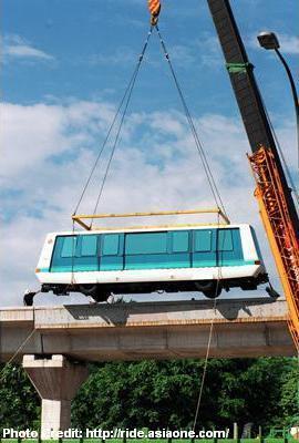 Первый вагон для LRT кольза Букит Панджанг (Bukit Panjang)