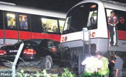 Авария на Лентор Авеню - Мерседес и поезд - 2003 год