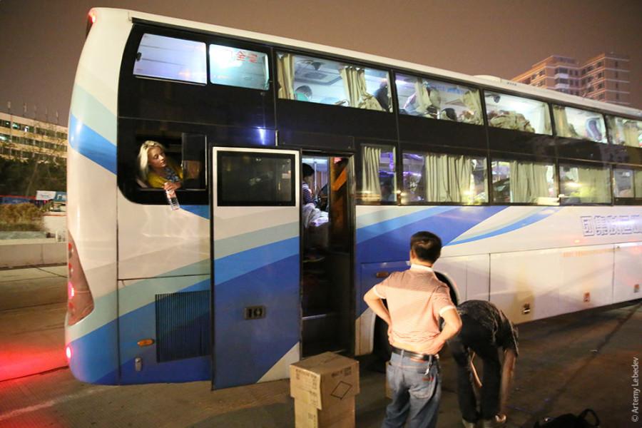 На автобусе трахтибидох