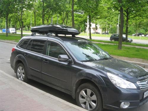 Багажник на крышу Subaru Outback (2009-2015) с низкими рейлингами