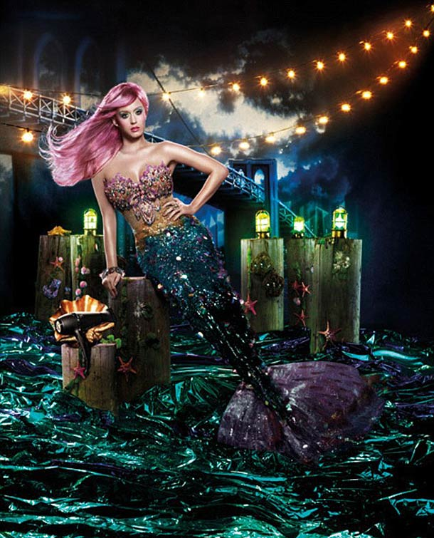 Katy Perry as a mermaid