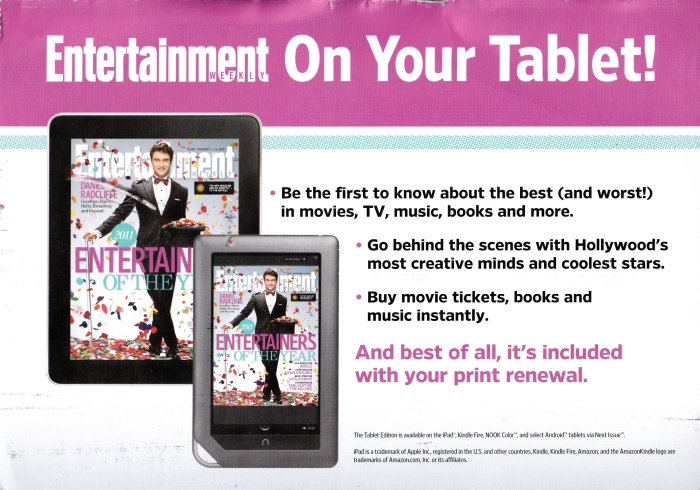 Entertainment Weekly on Your Tablet!