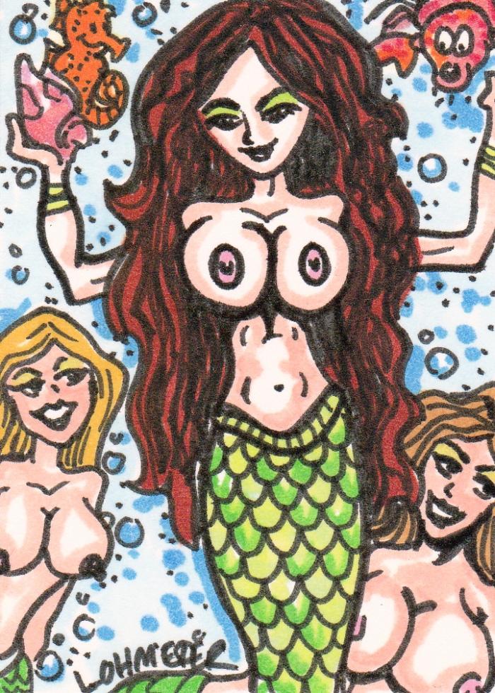 Mermaids ACEO by Jason Lohmeier