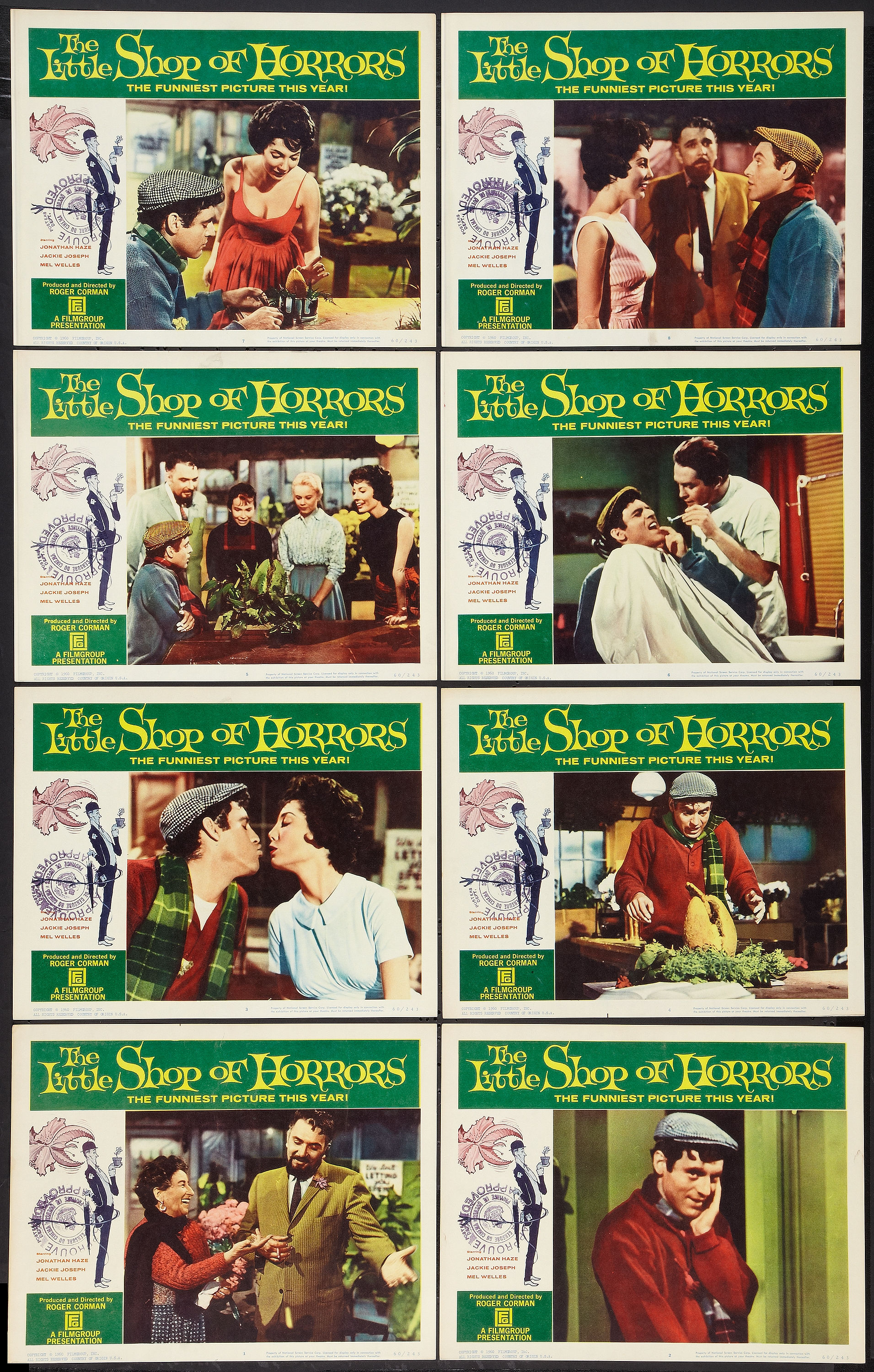 Little Shop of Horrors (1960) lobby cards