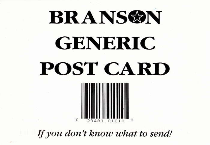 Branson Generic Post Card