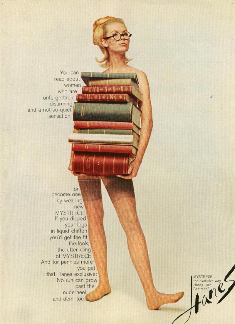 Ad for Hanes Mystrece stockings