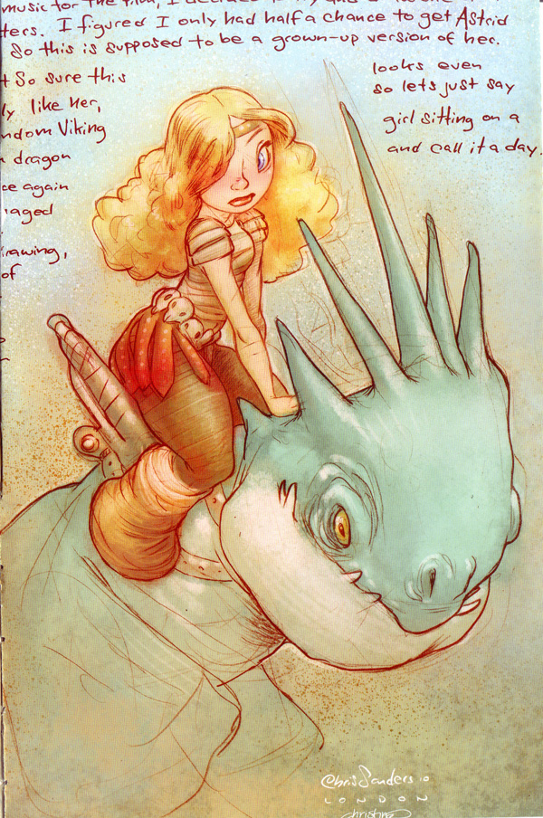 Astrid and Dragon by Chris Sanders