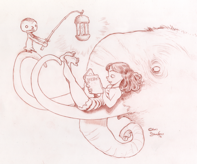 Cave Girl Menu by Chris Sanders