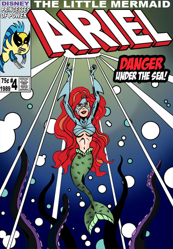 Comic-book Ariel by Brodie H. Brockie