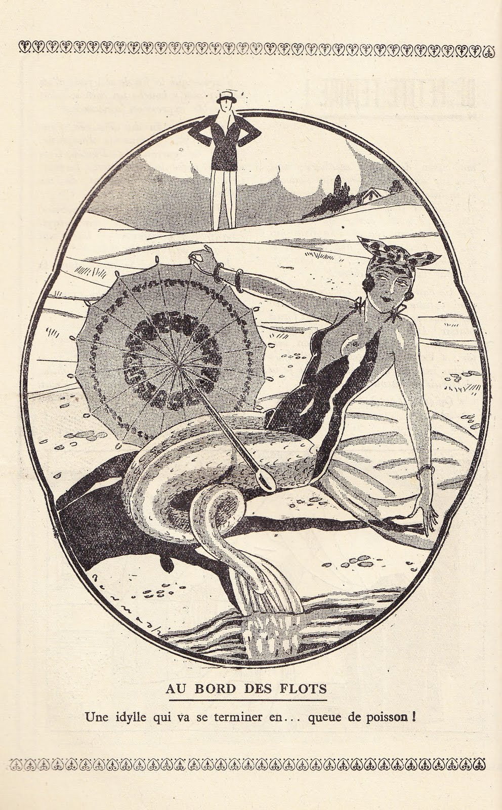 Mermaid from Almanach Gens qui Rient au Grand Air (1927)