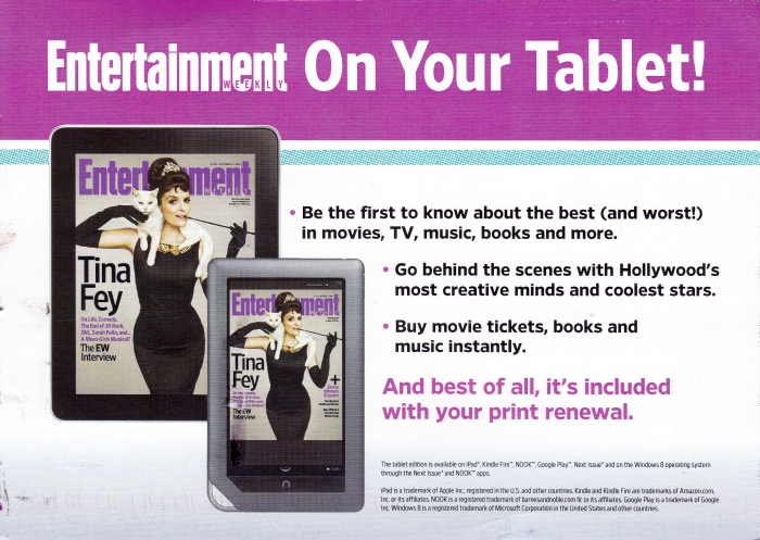 Entetainment Weekly Tina Fey