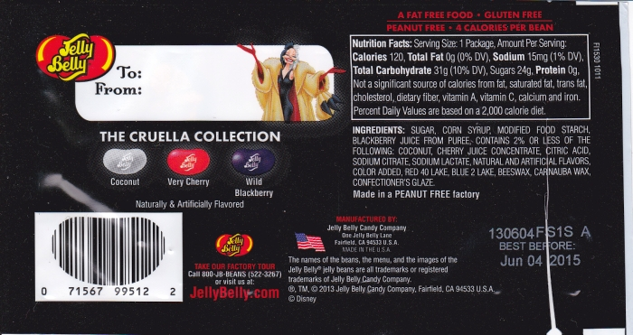 Jelly Belly Cruella DeVil back