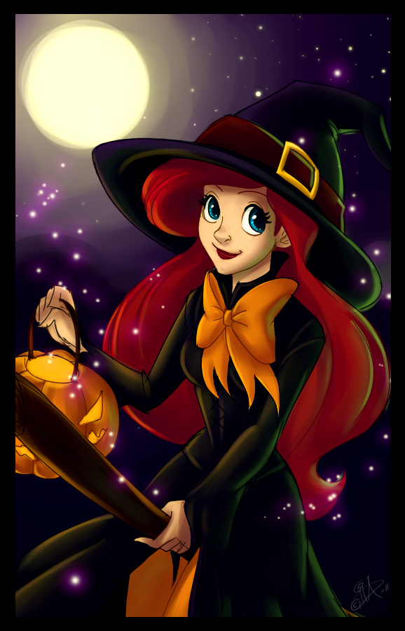 halloween ariel by uppun-d4embng