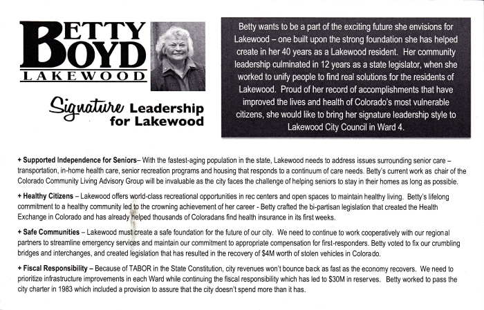 Citizens for Betty Boyd