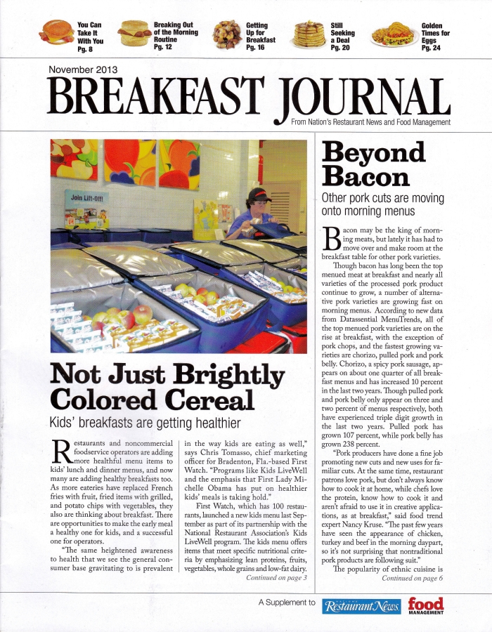 Breakfast Journal Nov 2013