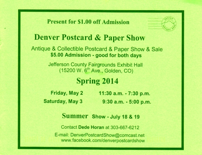 Denver Postcard & Paper Show Spring 2014