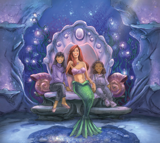 Ariel's Grotto concept art
