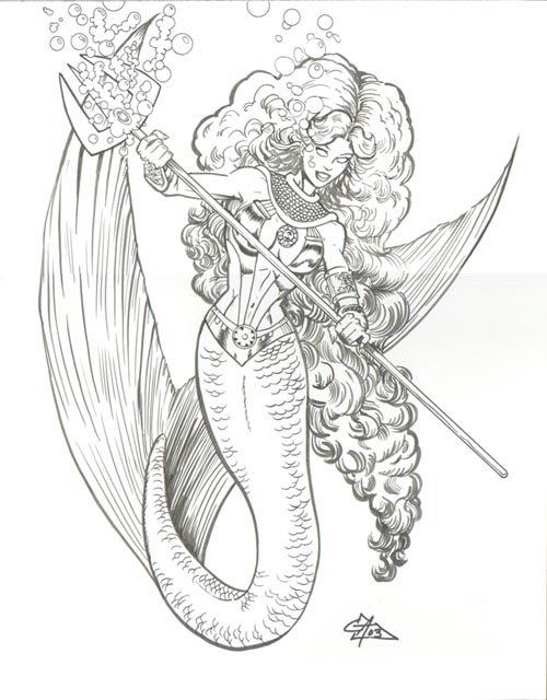 Starfire Mermaid by Glenn Anderson