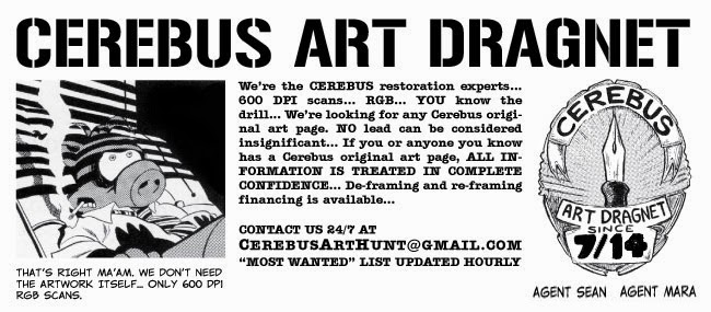 Cerebus Art Dragnet banner